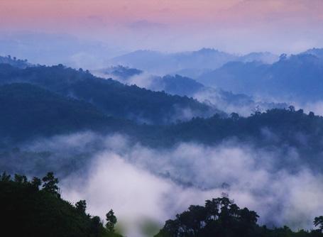 Fog hangs over the mountains in Sajek Valley, Bangladesh