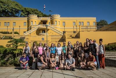 A group of American Projects Abroad volunteers at a museum in Costa Rica, Central America.