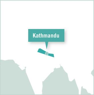 Map of volunteer project placement in Kathmandu, Nepal