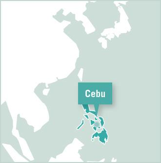 Map of Projects Abroad office and volunteer placement in Cebu, Philippines