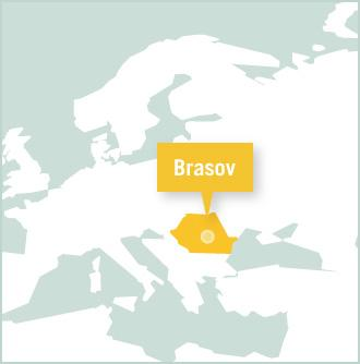 Map of volunteer placement in Brasov, Romania with Projects Abroad