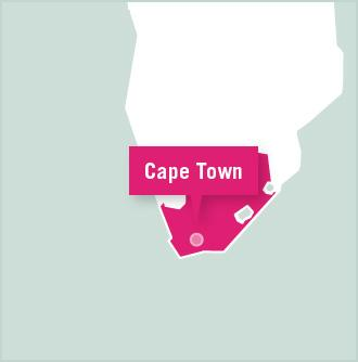 Map of volunteer project placement in Cape Town, South Africa with Projects Abroad