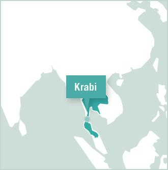 Map of placement in Krabi to Volunteer in Thailand