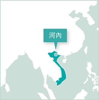 地圖:越南義工項目設立在河內