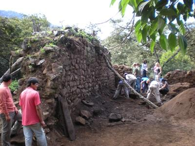 Archaeology volunteers conduct fieldwork in Peru.