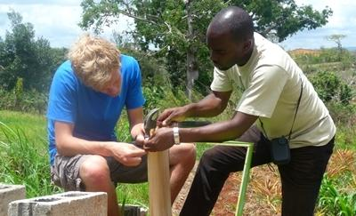 Volunteers on the Building project in Jamaica with Projects Abroad