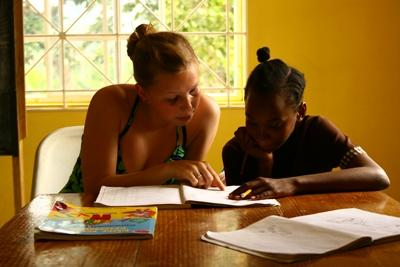 Teaching volunteer on a project in Jamaica