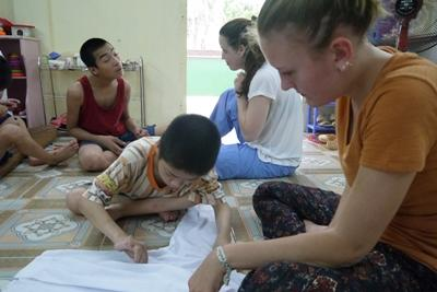 This volunteer helps with early childhood development in Vietnam during her gap year volunteering program