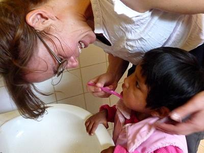 Volunteer at a childcare centre in Bolivia