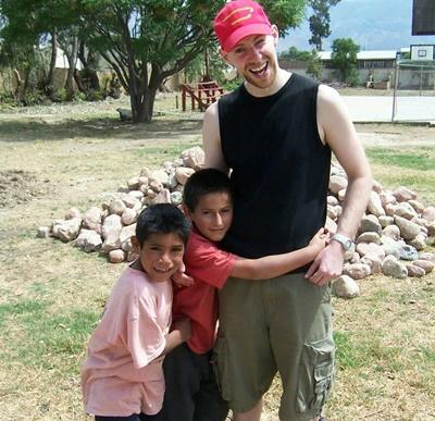 Volunteer with special needs children in Bolivia