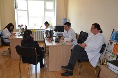 A patient attends an appointment with a professional psychologist at a health care centre in Mongolia, Asia.