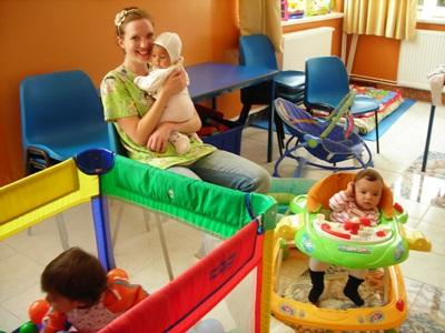 Volunteer with kids who have special needs in a care centre in Romania