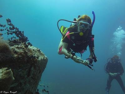 Projects Abroad Conservation volunteers on a dive in Cambodia, Southeast Asia.