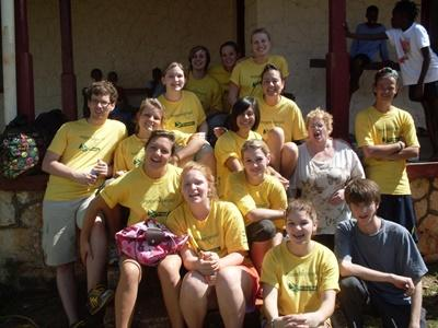 Group of volunteers on the Culture & Community project in Jamaica