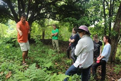Volunteers on the Galapagos Islands outside Ecuador help protect indigenous plant species