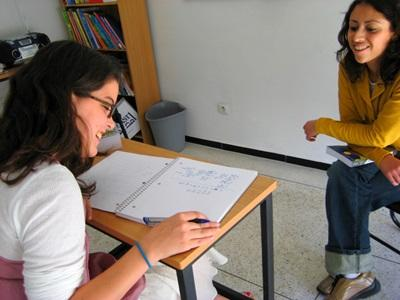 High School Special volunteers take language lessons with Projects Abroad staff in Morocco