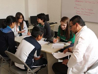 Students volunteer alongside local doctors in Mexico on the Public Health project.