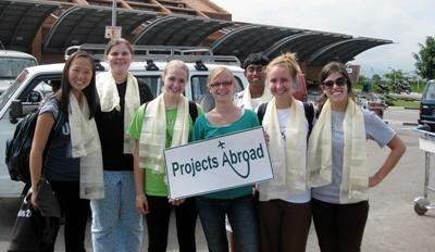 High School Specials Volunteers picked up at airport in Kathmandu, Nepal