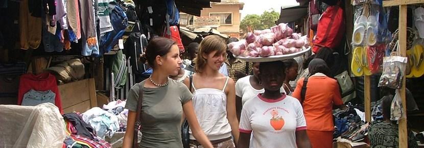 Volunteers help small businesses on the International Development volunteer project