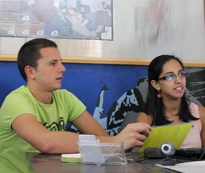 義工在墨西哥國際發展項目參與辦公室的日常工作