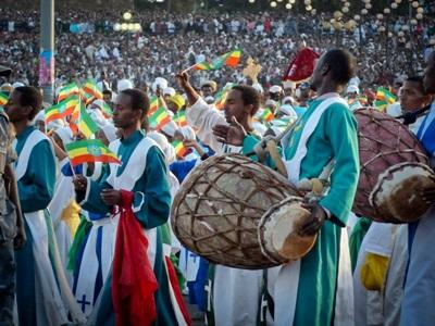 A traditional Ethiopian festival in Africa.