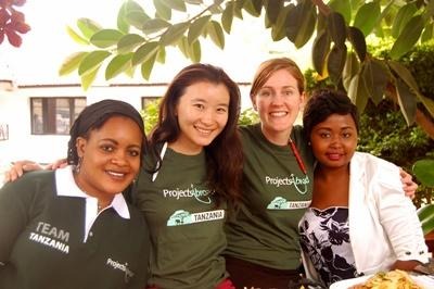 Projects Abroad staff spend time with volunteers in Tanzania, Africa.