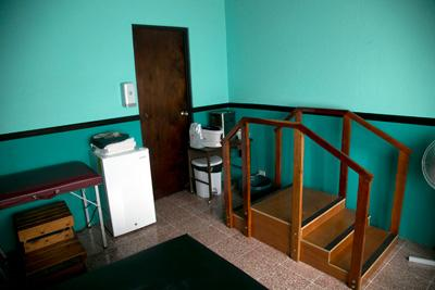 The physiotherapy room at one of the physiotherapy placements in Costa Rica