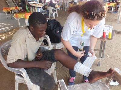 Public Health interns provide medical treatment to outlying communities on outreaches.