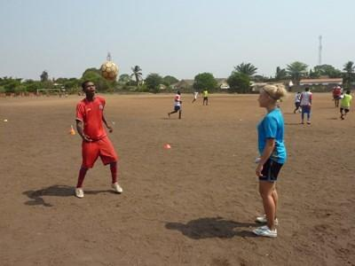 Coaching football in Ghana
