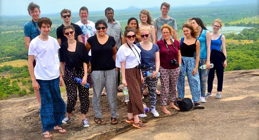 UK Calder Group at the top of Pidurangala Rock