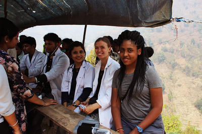 Medical screenings conducted by a group of student volunteers abroad in Nepal