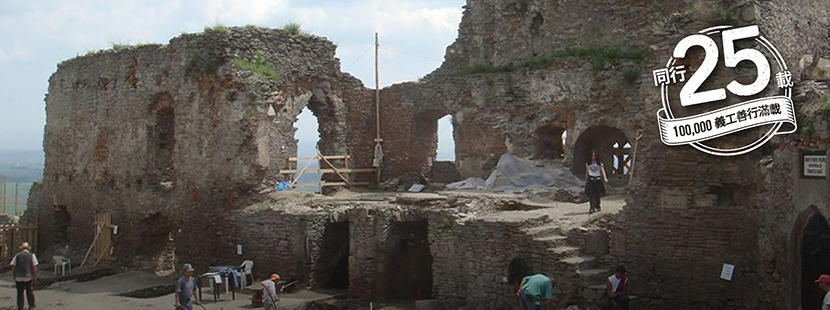 Projects Abroad在海外的考古學項目研究建築物的石造結構
