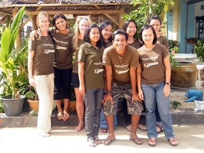 Volunteer and staff